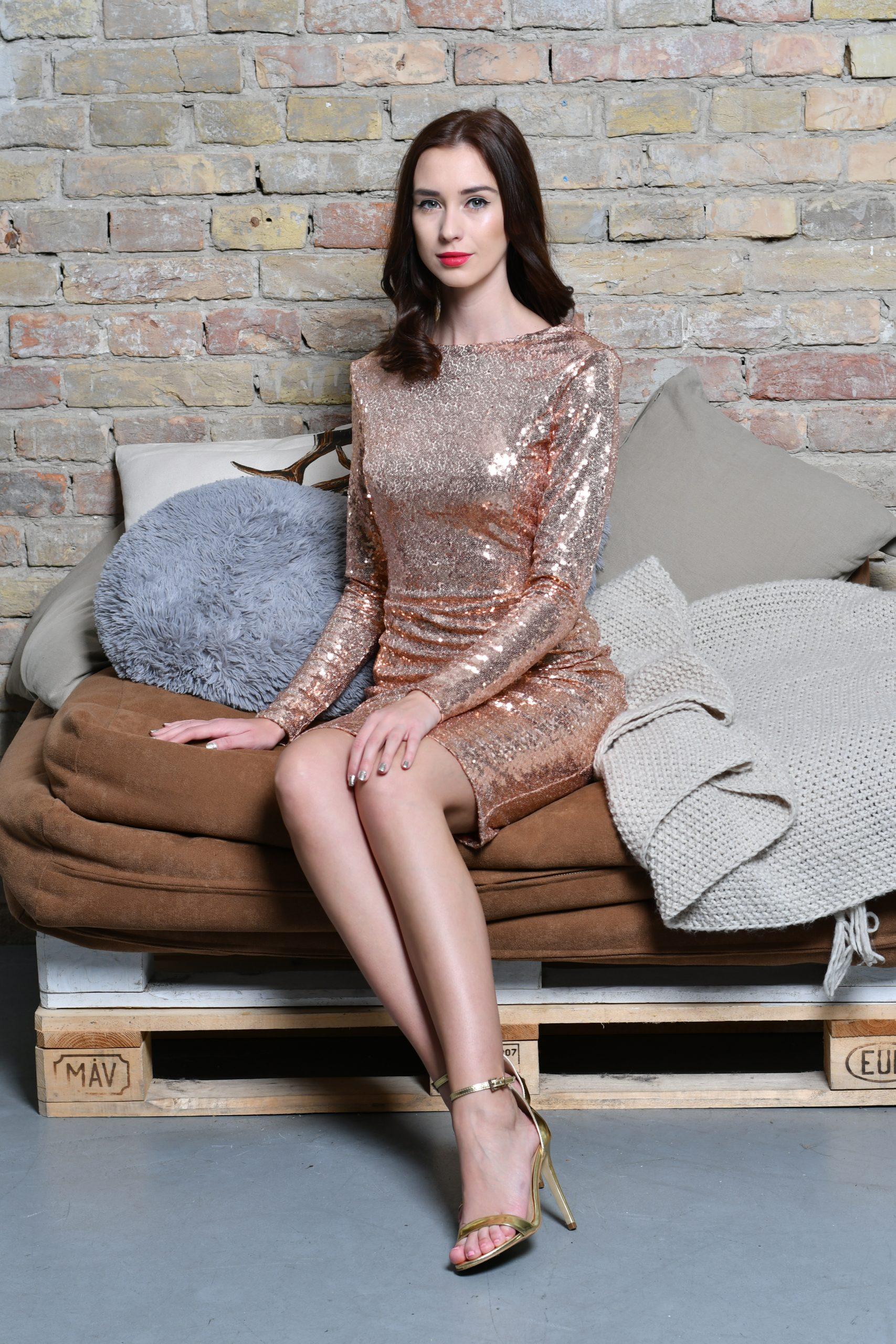 Flitter Dress Rose Gold (1)
