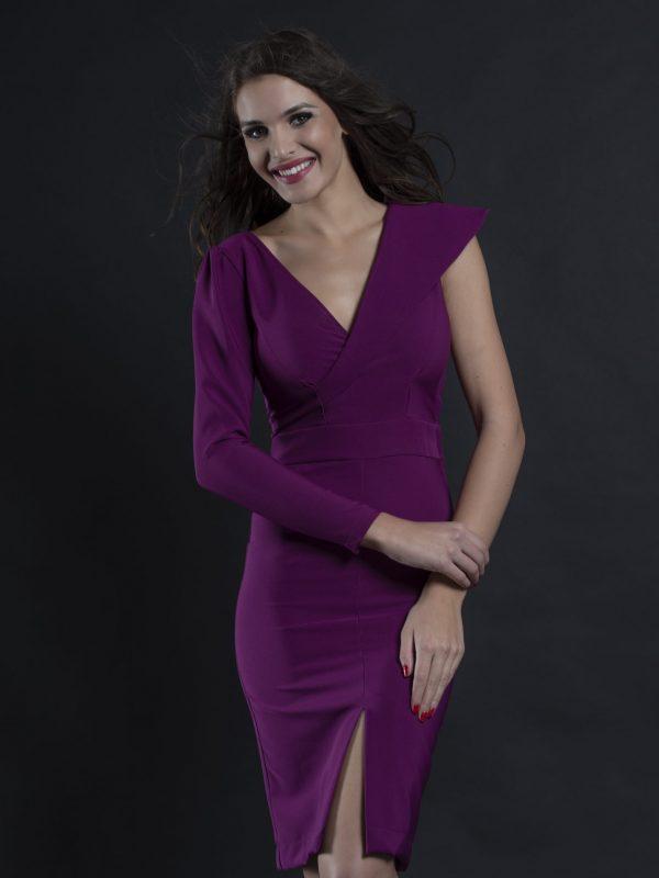 Dress Clara fuxia (1)