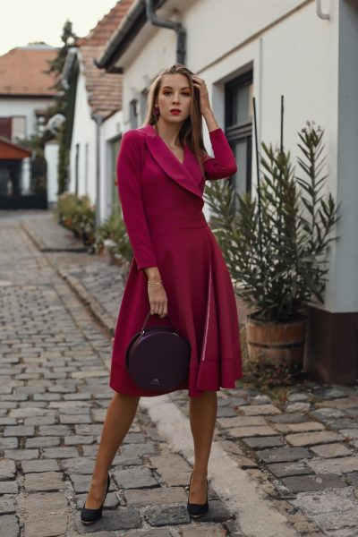 Dress Dalila fuxia (1)