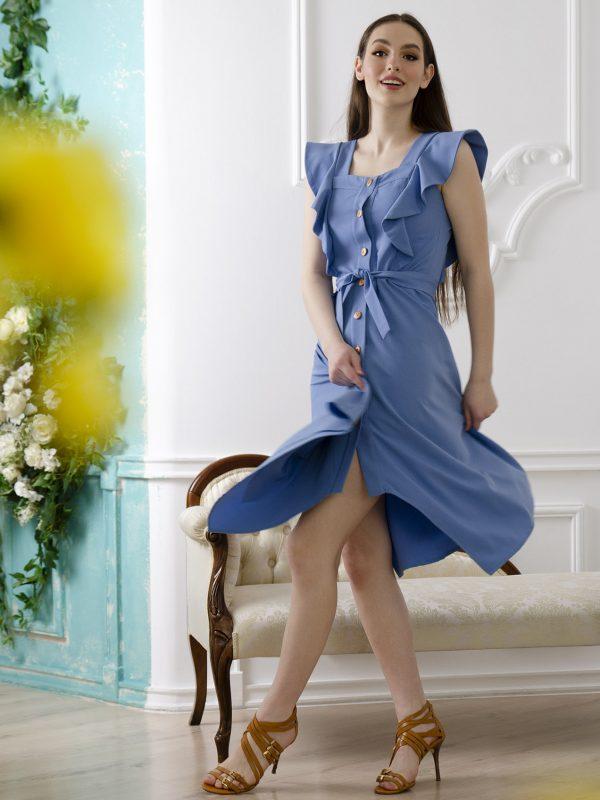 Dress Erica blue (2)