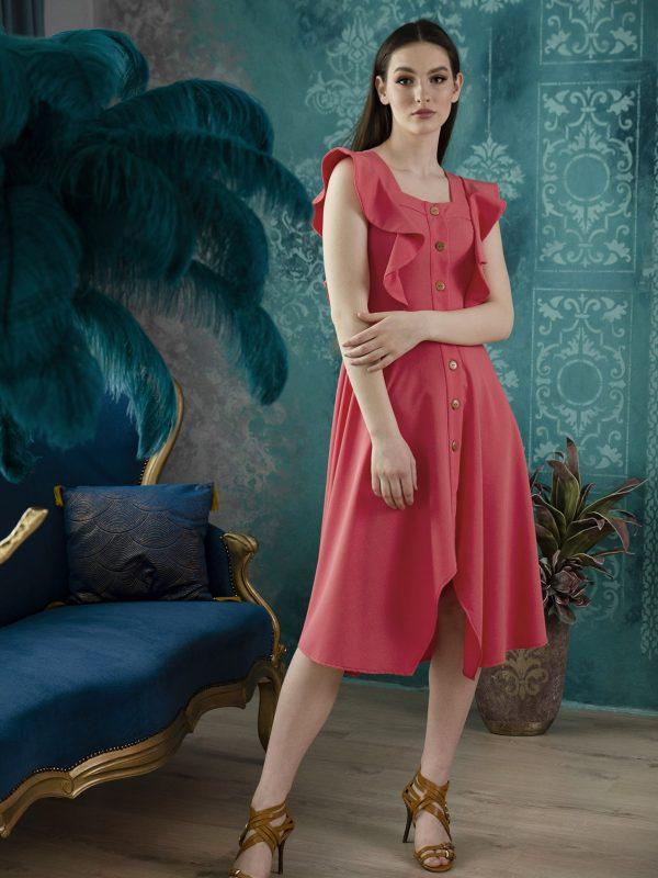 Dress Erica coral (1)