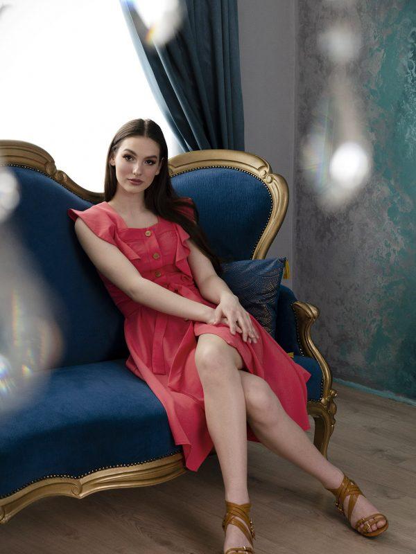 Dress Erica coral (10)
