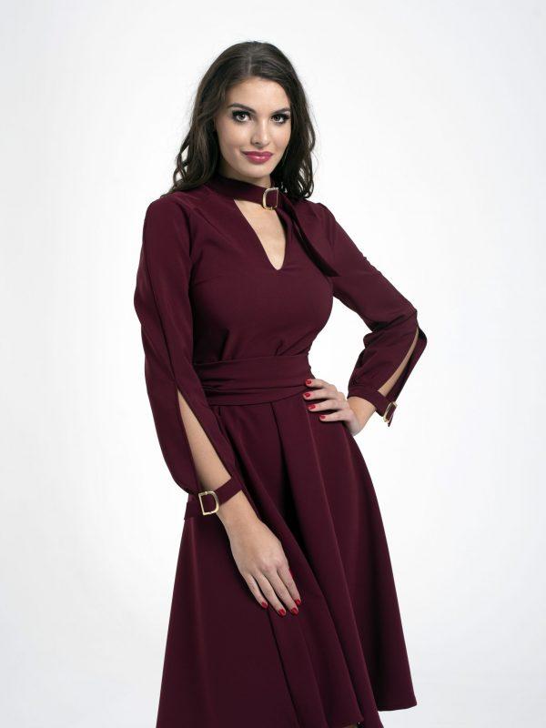 Dress Tekla bordó (2)